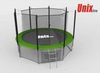 Батут UNIX Батут UNIX 8 FT INSIDE (GREEN) с сеткой
